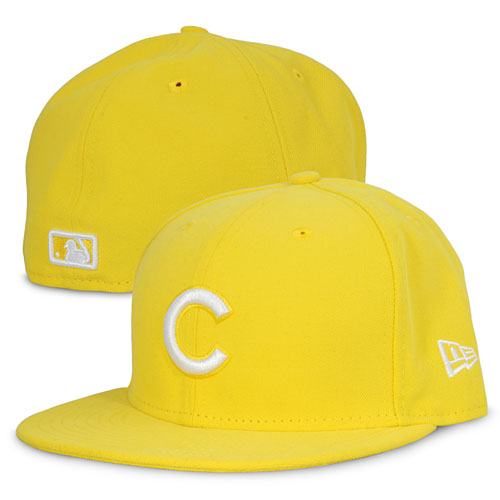 Chicago Cubs Cyber Yellow 5950 Fitted Cap f58fc85dd6e