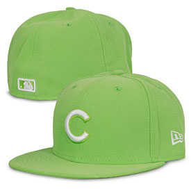 Chicago Cubs Lime Green 5950 Fitted Cap