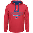 Chicago Cubs 2015 Postseason Red Take October Hooded Sweatshirt