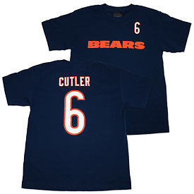 Chicago Bears Jay Cutler Youth Name and Number T-Shirt