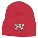 Chicago Bulls Red Cuffed Knit Hat
