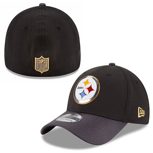 b43ed62bc Pittsburgh Steelers Youth Gold Collection 39THIRTY Flex Fit Cap