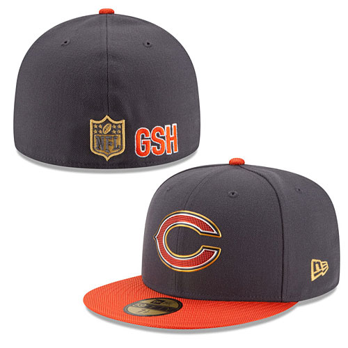 88879e93 Chicago Bears Gold Collection On Field 59FIFTY Fitted Cap