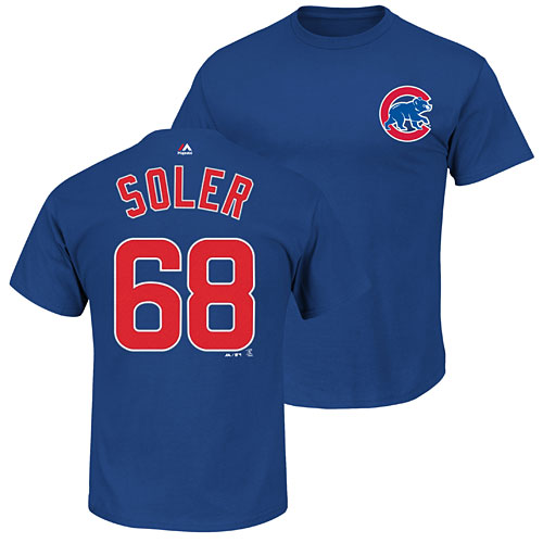 online store 23d47 e87dc Chicago Cubs Jorge Soler Name and Number T-Shirt
