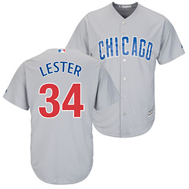 Chicago Cubs Jon Lester Road Cool Base Replica Jersey