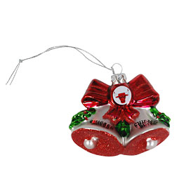Chicago Bulls Glitter Bells Ornament