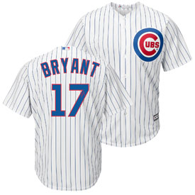 Chicago Cubs Kris Bryant Home Cool Base Replica Jersey w/ Embroidered Autographed Number