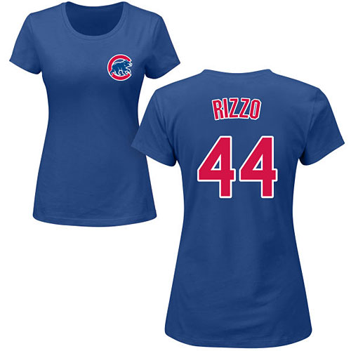 super popular 92a0c d29ad Chicago Cubs Anthony Rizzo Ladies Name and Number T-Shirt