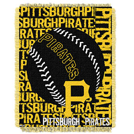 Pittsburgh Pirates Double Play Jacquard Throw Blanket