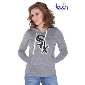Chicago White Sox Ladies Teagan Tri-Blend Full-Zip Hooded Sweatshirt