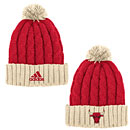 Chicago Bulls Christmas Day Cuffed Knit Hat with Pom