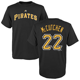 Pittsburgh Pirates Andrew McCutchen Youth Name and Number T-Shirt