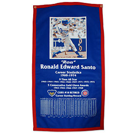Chicago Cubs Ron Santo Wool Banner.