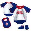 Chicago Cubs Newborn Little Player Creeper, Bootie & Bib Set