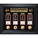 Chicago Blackhawks 2015 Stanley Cup Champions Deluxe Gold Coin & Ticket Collection