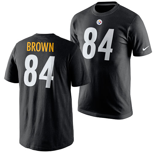 baba6b5e Pittsburgh Steelers Antonio Brown Name and Number T-Shirt
