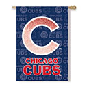 Chicago Cubs Glitter Logo House Flag