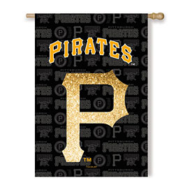 Pittsburgh Pirates Glitter Logo House Flag