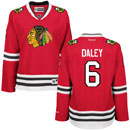 Chicago Blackhawks Trevor Daley Ladies Red Premier Jersey w/ Authentic Lettering