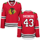 Chicago Blackhawks Viktor Svedberg Ladies Red Premier Jersey w/ Authentic Lettering