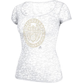Philadelphia Union Ladies White Burnout T-Shirt