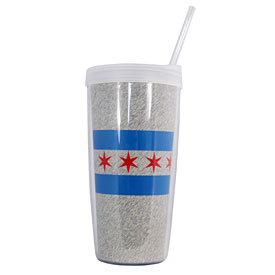 City of Chicago Flag 16oz. Tumber w/ Lid