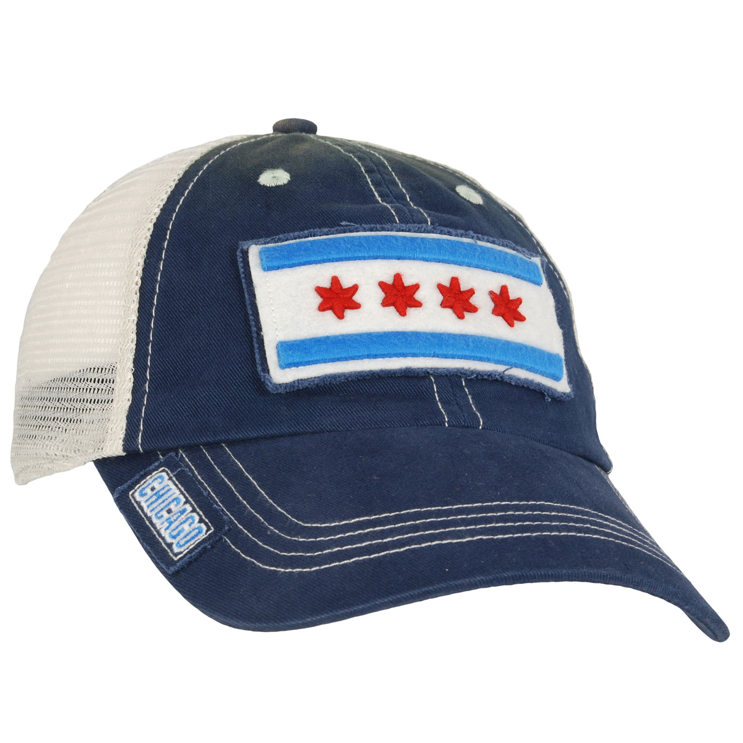 City of Chicago Flag Mesh Adjustable Cap
