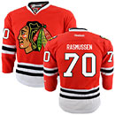 Chicago Blackhawks Dennis Rasmussen Youth Red Premier Jersey w/ Authentic Lettering