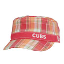 Chicago Cubs Girls Plaidster Adjustable Cap
