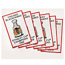 Chicago Blackhawks Every Stanley Cup Champions Pennant - Six Pack