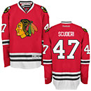 Chicago Blackhawks Rob Scuderi Red Premier Jersey w/ Authentic Lettering