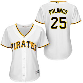 Pittsburgh Pirates Gregory Polanco Ladies Home Cool Base Replica Jersey