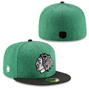 Chicago Blackhawks St. Patrick's Day Heather 5950 Fitted Cap