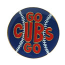 Chicago Cubs Go Cubs Go Baseball Collectible Souvenir Pin