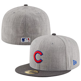 Chicago Cubs Heather Action 59FIFTY Fitted Cap