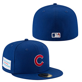 Chicago Cubs Flag Stated 59FIFTY Fitted Cap