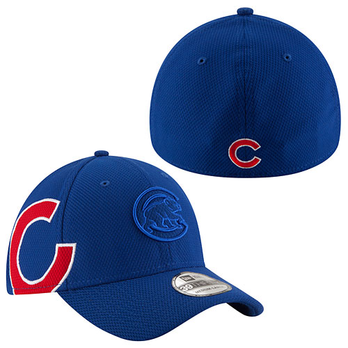 f4d63578221 Chicago Cubs Logo Twist Neo 39THIRTY Flex Fit Cap