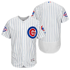 Chicago Cubs Home Flexbase Authentic Collection Team Jersey w  Wrigley  Field Commemorative Patch d01b1120c