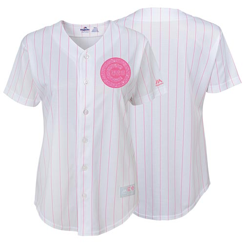 separation shoes d1924 f49ca Chicago Cubs Girls Glitter Pink Replica Jersey