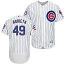 Chicago Cubs Jake Arrieta Flexbase Home Authentic Collection Jersey w/ Wrigley 100 Years Patch