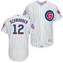 Chicago Cubs Kyle Schwarber Flexbase Home Authentic Collection Jersey w/ Wrigley 100 Years Patch