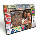 Chicago Cubs Ticket Collage Wooden 4x6 inch Picture Frame