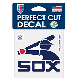 """Chicago White Sox Cooperstown 4"""" x 4"""" Die-Cut Decal"""