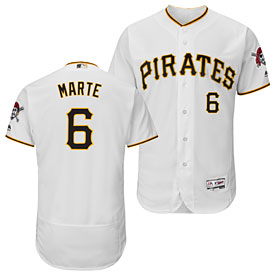 Pittsburgh Pirates Starling Marte Home Flexbase Authentic Collection Jersey