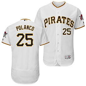 Pittsburgh Pirates Gregory Polanco Home Flexbase Authentic Collection Jersey