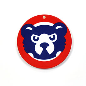 Chicago Cubs Throwback Bear Face Logo Steel Magnet