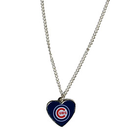 Chicago Cubs Heart Logo Necklace