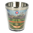 Chicago Cubs Wrigley Field Wrap Metal Shot Glass