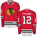 Chicago Blackhawks Tomas Fleischmann Red Premier Jersey w/ Authentic Lettering