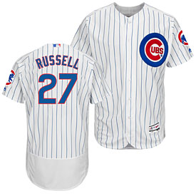14f9d3210a0 Chicago Cubs Addison Russell Home Flexbase Authentic Collection Jersey